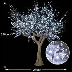 """LED дерево """"Сакура"""" имитация, белая  3.5 м 3200 светодиодов - фото 10036"""
