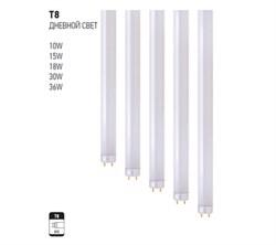 T8 18W 6400K G13 220-240V Флюоресц. лампа 25шт - фото 11692