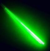 Светодиодная сосулька зеленая двусторонняя 1м, 24V,144l